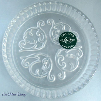 Lenox Full Lead Crystal Coasters Entertaining Set Four