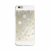 iPhone 6 Case Snowflake iPhone 6 Plus Soft Case Winter Snow iPhone 6 Plus Slim Design Case Christmas 1297