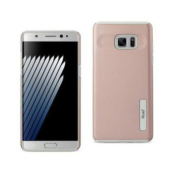 REIKO SAMSUNG GALAXY NOTE 7 SOLID ARMOR DUAL LAYER PROTECTIVE CASE IN ROSE GOLD