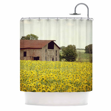 "Angie Turner ""Field Of Sunflowers"" Yellow Nature Shower Curtain"