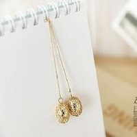 Gold Tone Ball Dangle Earrings at Online Jewelry Store Gofavor