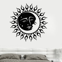 Vinyl Wall Decal Sun and Moon Star Bedroom Room Decoration Stickers (025ig)