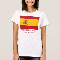 Women T Shirt with Flag of SPAIN