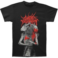 Cattle Decapitation Men's  Dual Revenge T-shirt Black
