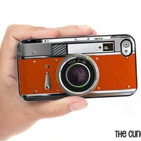 iPhone Case O' Really Orange Retro Camera Hard Phone Case / Fits Iphone 4 and iPhone 4S