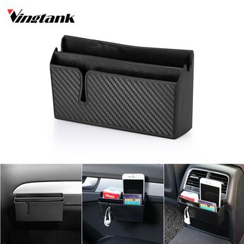 Car Side Pocket Organizer Phone Holder Car Accessory Double Layer for Earphone Phone Sunglass