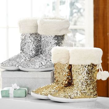 Sequin Booties