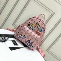 MCM women Bag Shoulder School Bag Backpack-5