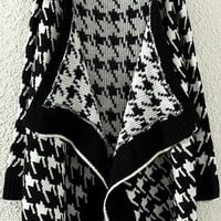Black Printed Cardigan