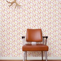 Pigeon Wallpaper in Punch design by Aimee Wilder