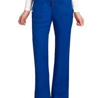 Buy Adar Pop-Stretch Junior Fit Mid Rise Flare Leg Scrub Pant for $25.95
