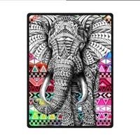 Elephant Art on Aztec Pattern Fleece Blankets and throws 58 X 80 inch (Large)