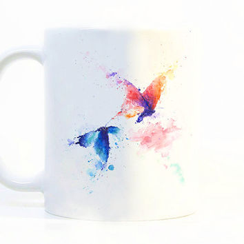 Butterfly coffee mug Butterfly mug Watercolor Mug Watercolor ceramic mug Tea Cup Gift for her Gift for him Printed mug Ceramic mug