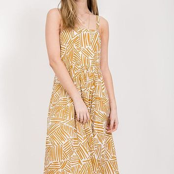 Fields Of Marigolds Midi Dress