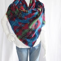 Extra Long Aztec Blanket scarf / Soft Oversized Scarf Blanket / Southwestern Shawl / Fall, Winter Wrap / Zara Insired