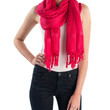 Love Quotes NYC Tassel Scarf in Grenadine