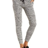Marled Drawstring Jogger Pants by Charlotte Russe