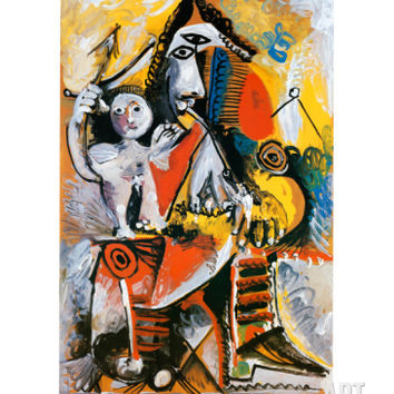 Musketeer and Cupid, c.1969 Art Print by Pablo Picasso at Art.com