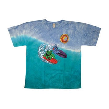 Grateful Dead Men's  Surfing Bears Tie Dye T-shirt Multi