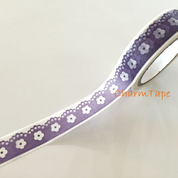 Purple Border Lace Washi tape - 15mm Wide - 10meters  WT728