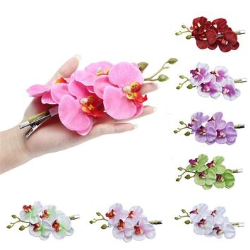 Fresh Womens Flower Hair Clip Hairpin Bridal Hawaii Party Hair Clip make you grace and elegant Satin + plastic + iron Material