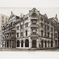 Richard Haas: The Driskill Hotel, 1976. Signed, Limited Edition Print.