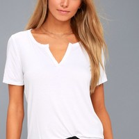 Brynlee White Tee