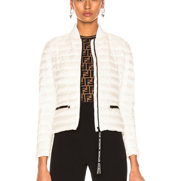 Moncler Blenca Biker Jacket in White | FWRD