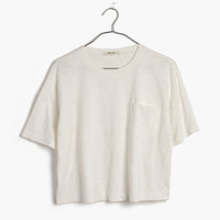 GARMENT-DYED POCKET TEE