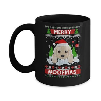 Golden Retriever Merry Woofmas Ugly Christmas Sweater Mug