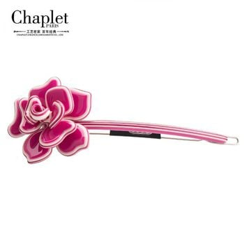 Chaplet 2016 Fashion High Quality Hair Accessories for Women Girls Barrettes Hairpins Acetate Flower Hair Clip Free Shipping
