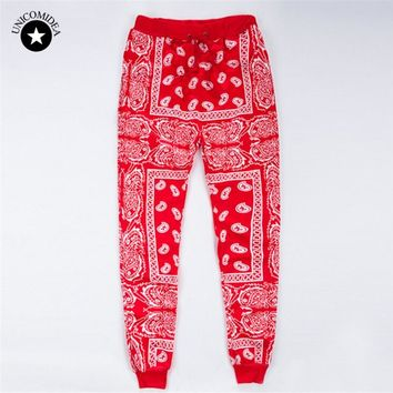 2017 New Arrival Pants Leggings Red 3D Print Leggins High Waist Elastic Loose Woman/Men's Pants