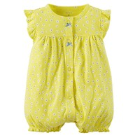 Carter's Flower Bow Creeper - Baby Girl, Size: