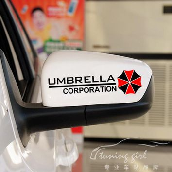 Car Stickers Resident Evil Umbrella Corporation Creative Decals For Rearview Mirror Vinyls Auto Tuning Styling 15x4cm D11