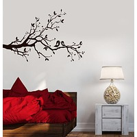 Wall Decal Tree Branches Birds Love Room Decoration Romantic Vinyl Mural Unique Gift ig2862
