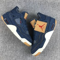 Best Deal Online Nike Air Jordan Retro 4 X Levi's Denim Men Sneakers