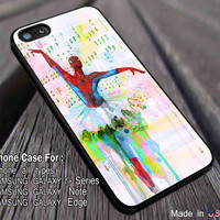Ballet Water Color Art Hero | Spiderman | Marvel iPhone 6s 6 6s+ 6plus Cases Samsung Galaxy s5 s6 Edge+ NOTE 5 4 3 #movie #cartoon #disney #animated #marvel #comic ii