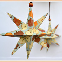 Thanksgiving Star Decoration, Thanksgiving Star, Paper Star, Thanksgiving Popup Decoration, Origami Star, Holiday Table, Autumn Tablescape