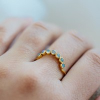 Moonstone Arc Hugging Ring