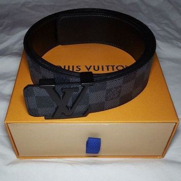 One-nice™ LV Black Damier Belt Size 95 I