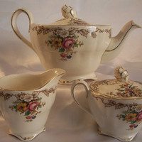 Vintage Grindley Marlborough Royal Petal Tea Pot Set