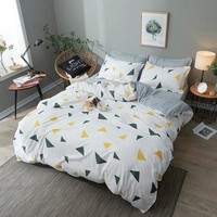 Jeefttby Home Textiles Bedding Set Geometric Patterns 3/4pcs Queen/king Size Duvet Cover Sheet Pillowcase Bed Linen Bedclothe
