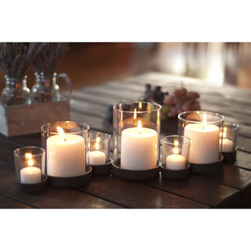 Bubbles Iron and Glass Candle Holder (Set of 7)