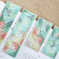 "Big Custom Funny Bookmark with a message ""Don't read my book!"""