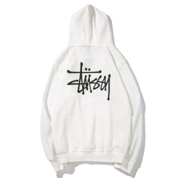 Stussy men's world tour simple and easy to take in the original wind loose students small fresh coat and hat tide