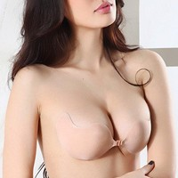 Invisible Silicone Bra Strapless Gather (D, color)