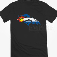 Silhouette of a Horse with Colorado Flag Unisex/Men Tshirt All Size