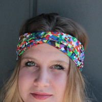 Colorful Summer Turban Twist Camouflage Boho Headband