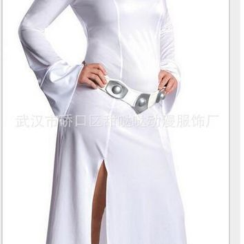 STAR WARS Cosplay Alderaan Princess Leia Organa Solo Costume Adult Child Cosplay Dresses