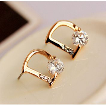 Dior Fashion Women Earring Alphabet fashion lady earrings